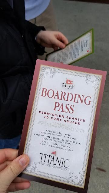 Titanic Museum  Boarding Pass