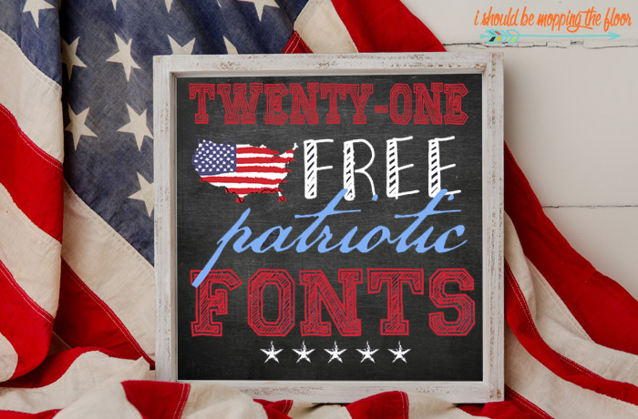 Patriotic Fonts