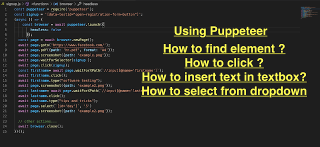Learn basic automation with puppeteer