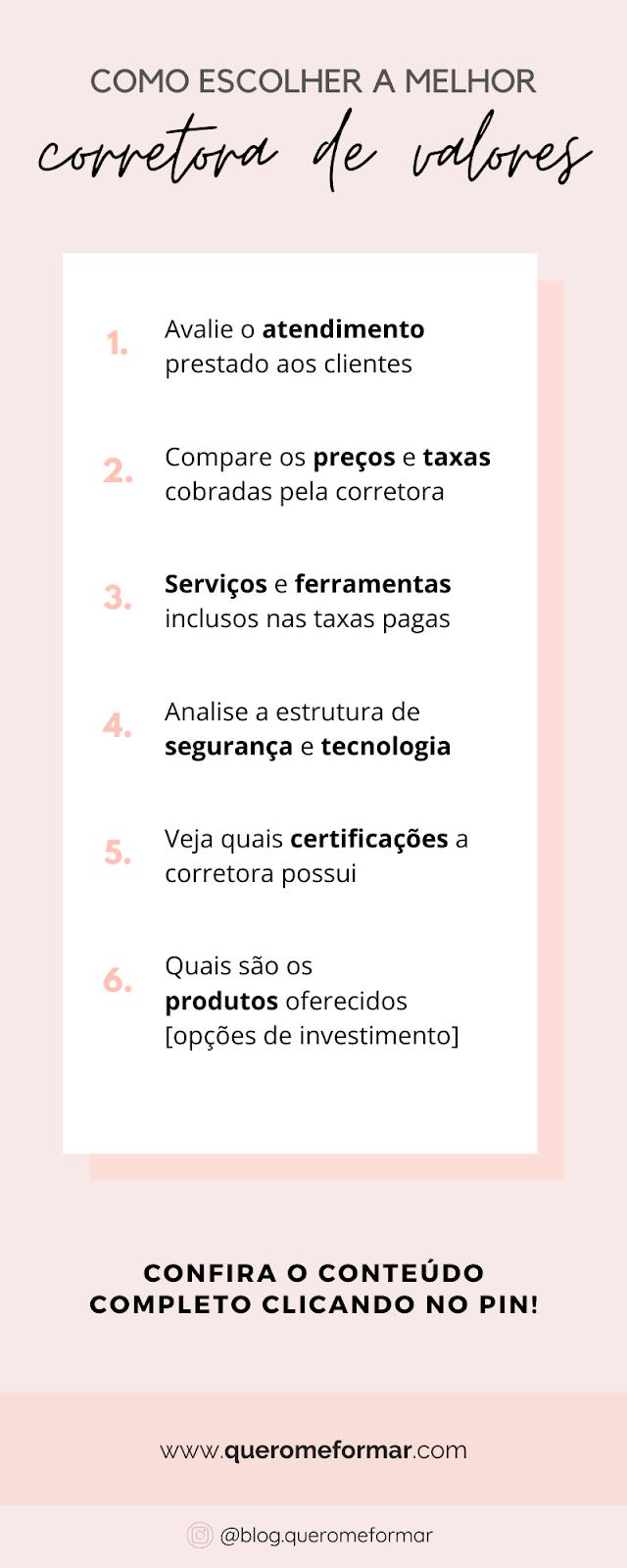 Infográfico Como Abrir Conta em Uma Corretora e Escolher a Melhor para Começar a Investir