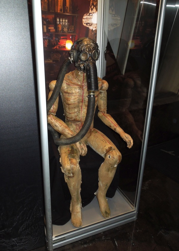 Insidious 2 Gas mask mannequin prop & Fab film costume and prop exhibits around L.A. of late... ~ Jason in ...