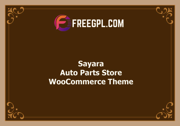 Sayara – Auto Parts Store WooCommerce WordPress Theme Nulled Download Free