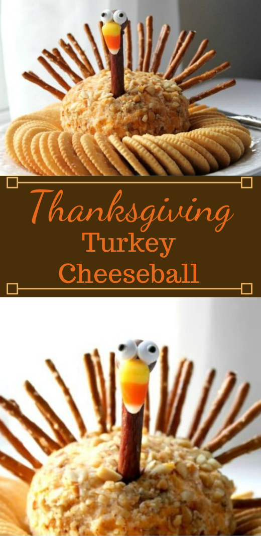 Turkey Cheese Ball #desserts #cakes #cheese #turkey #snack