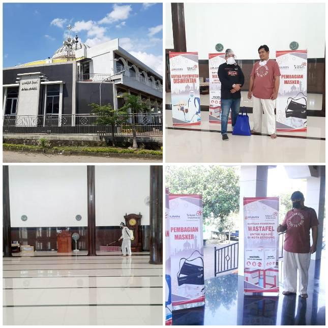 Masjid Abu Bakar GCA Terima Donasi APD Covid-19 dari Telkom Indonesia
