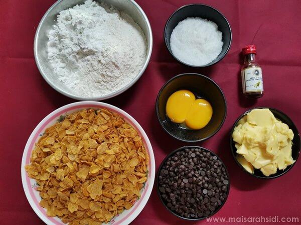 resepi biskut cornflakes rangup