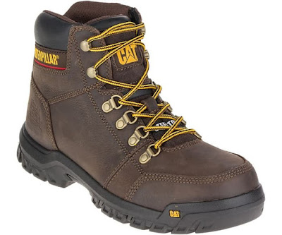 Sepatu Safety Caterpillar Outline ST Seal Brown Original