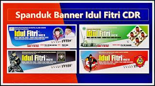 spanduk banner selamat idul fitri cdr gratis - kanalmu