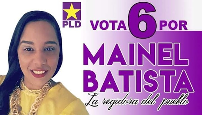Mainel Batista se perfila como la precandidata a regidora más votada del municipio Santa Cruz de Barahona