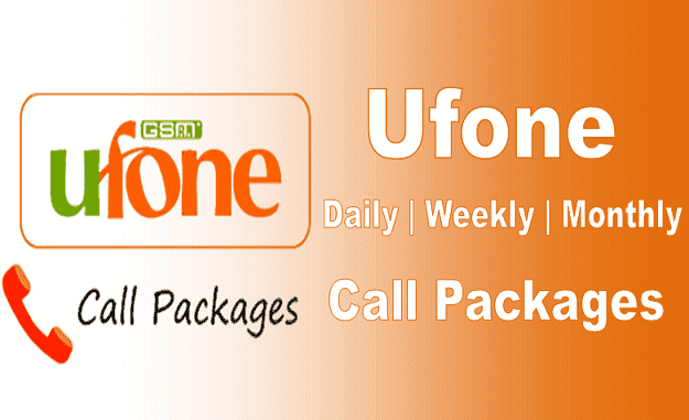 Ufone daily, 24 hours, weekly, montlhy call packages code 2021