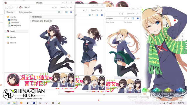 Windows 8/8.1 Theme Saenai Heroine no Sodatekata by Enji Riz