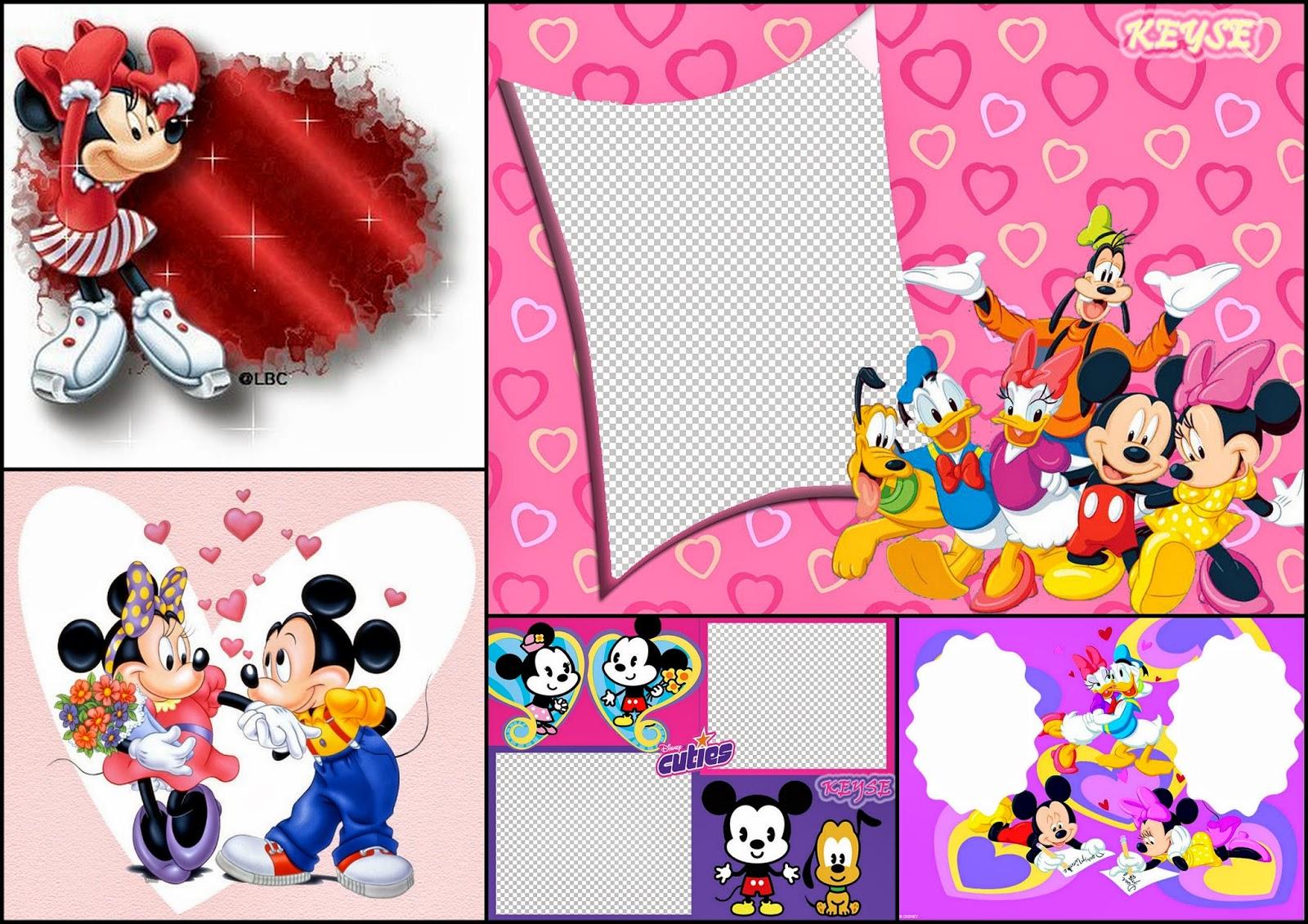 Mickey y sus Amigos Especial San Valentín: Tarjetas o Marcos para ...