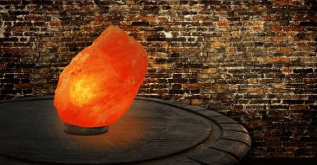 Himalayan Salt Lamp on a Table
