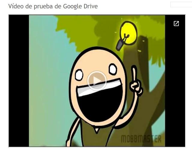 Como colocar un vídeo de Google Drive en nuestro sitio web.