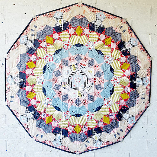 Pirouette Paper Piecing Quilt Free Pattern Designed by Jodi of Tales of Cloth