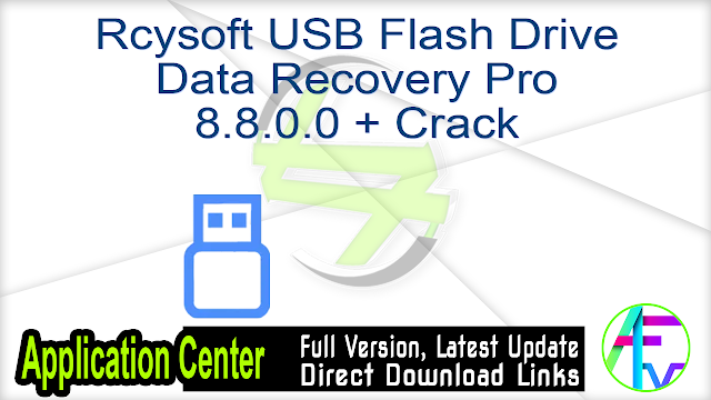 Rcysoft USB Flash Drive Data Recovery Pro 8.8.0.0 + Crack