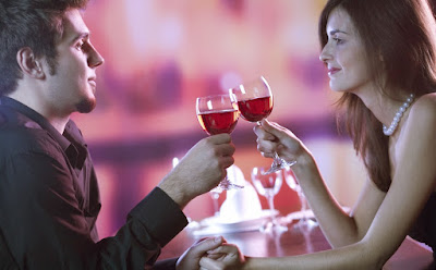 Wine tasting on a valentine date