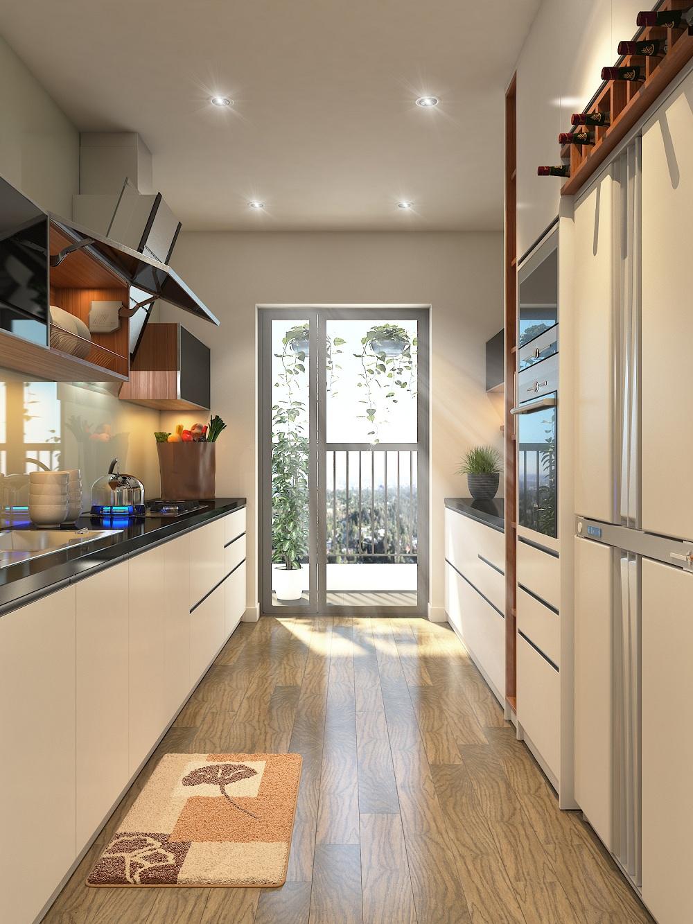 Phòng bếp có ánh sáng trung thực