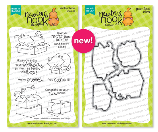 Newton Loves Boxes Stamp Set and Die Set by Newton's Nook Designs #newtonsnook