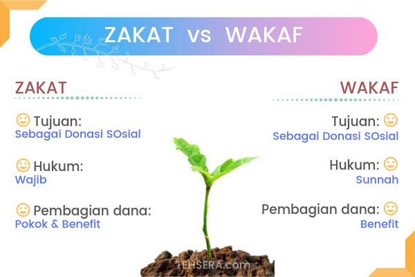 perbedaan zakat dan wakaf