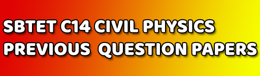 DIPLOMA PHYSICS OLD QUESTION PAPERS C-14 CIVIL