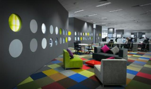 Desain warna cat rumah untuk ruang kantor yang bagus dan menarik
