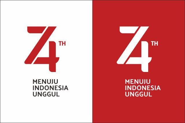 Logo Kemerdekaan Ke-74 Republik Indonesia 17 Agustus 2019
