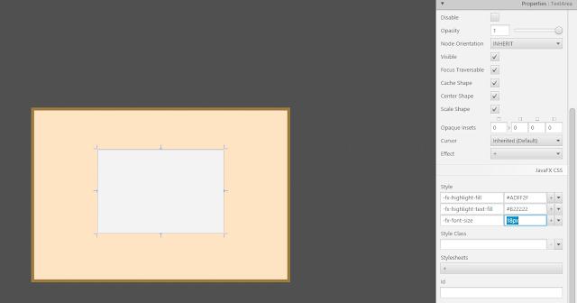 TextArea using JavaFX Scene Builder 2.0