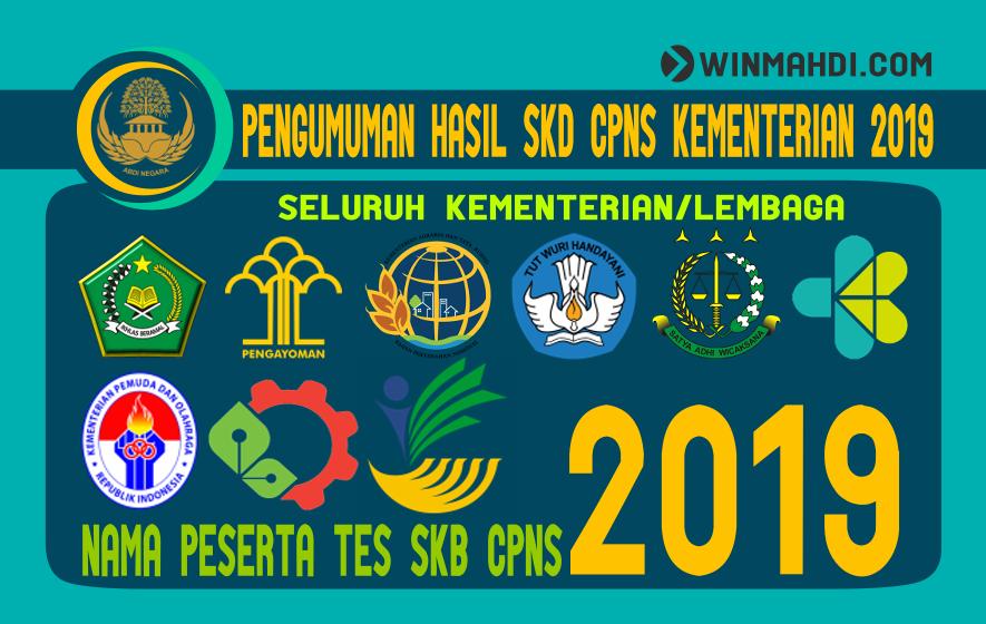 Pengumuman Hasil SKD dan Peserta SKB CPNS Kementerian 2019