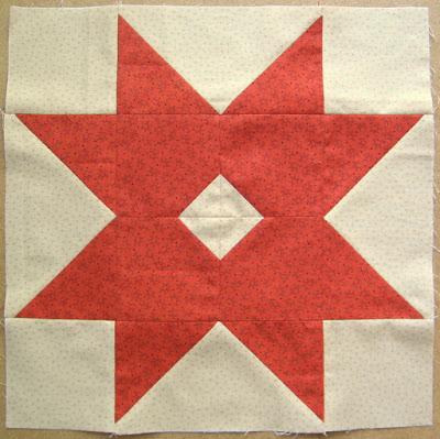Large version variation of Kim Diehl's Barn Stars block
