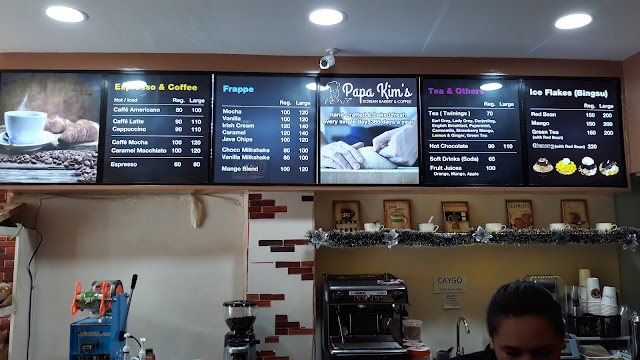 Papa Kim's Korean Bakery & Coffee menu list