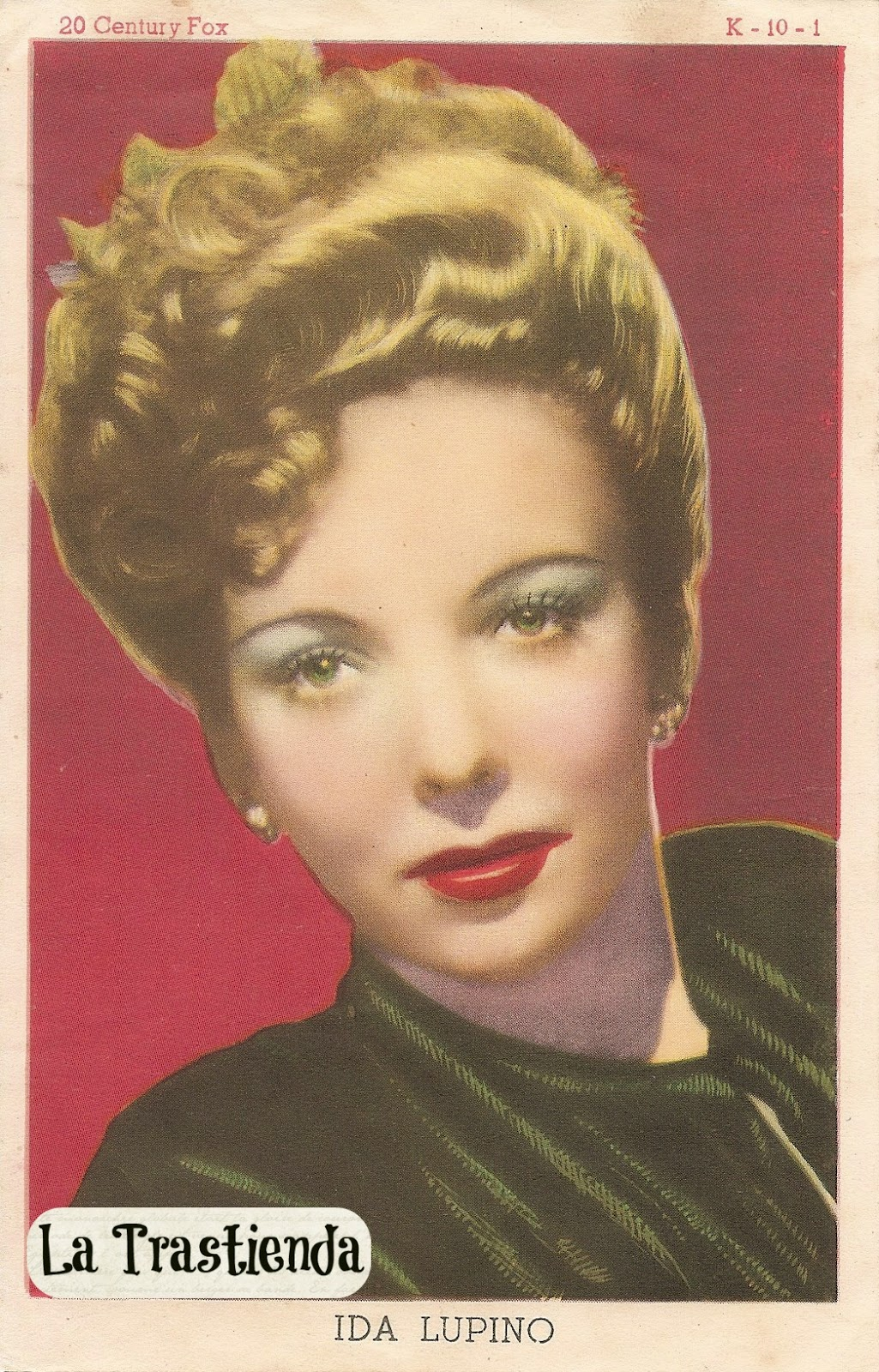 Retrato antiguo de Ida Lupino