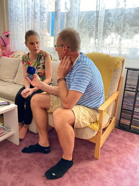 Linda s Lubem Smatanou při rozhovoru