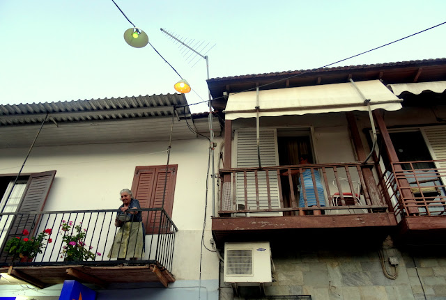 Old women balcony Vasiliki