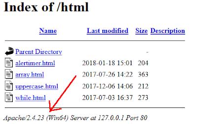 Nascondere le informazioni di Apache su Wamp