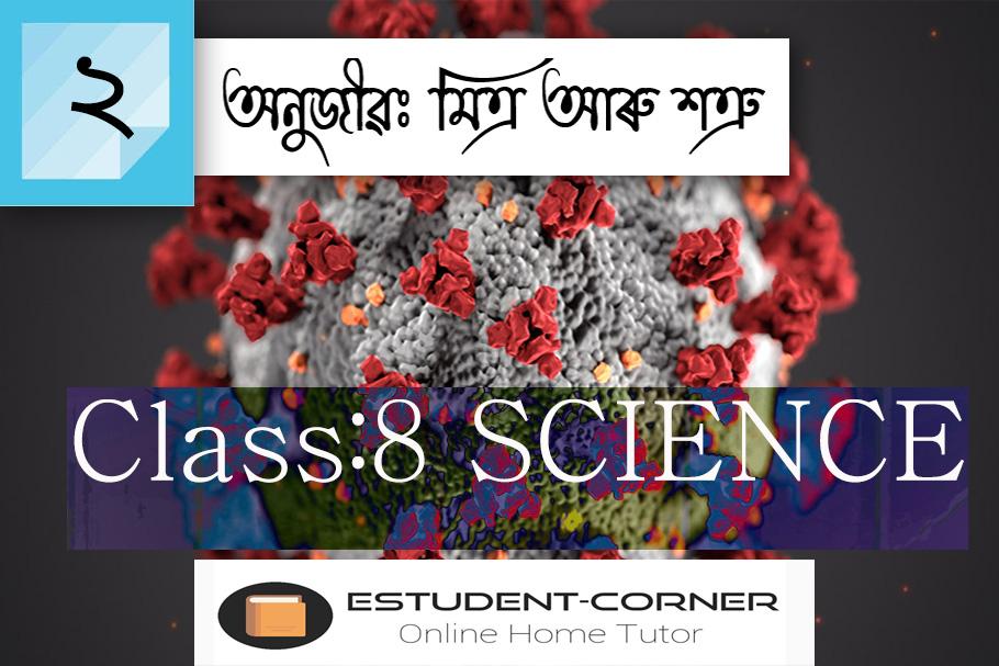 Class 8 || SCIENCE || Lesson 2 || অনুজীৱঃ মিত্ৰ আৰু শত্ৰু || পাঠভিত্তিক সকলো প্ৰশ্নোত্তৰ