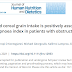 Maior ingestão de grãos de cereais refinados está positivamente associada ao índice de apneia-hipopneia em pacientes com apneia obstrutiva do sono.
