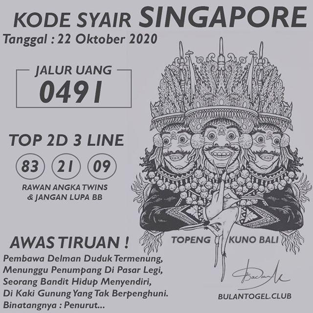 Kode syair Singapore Kamis 22 Oktober 2020 150