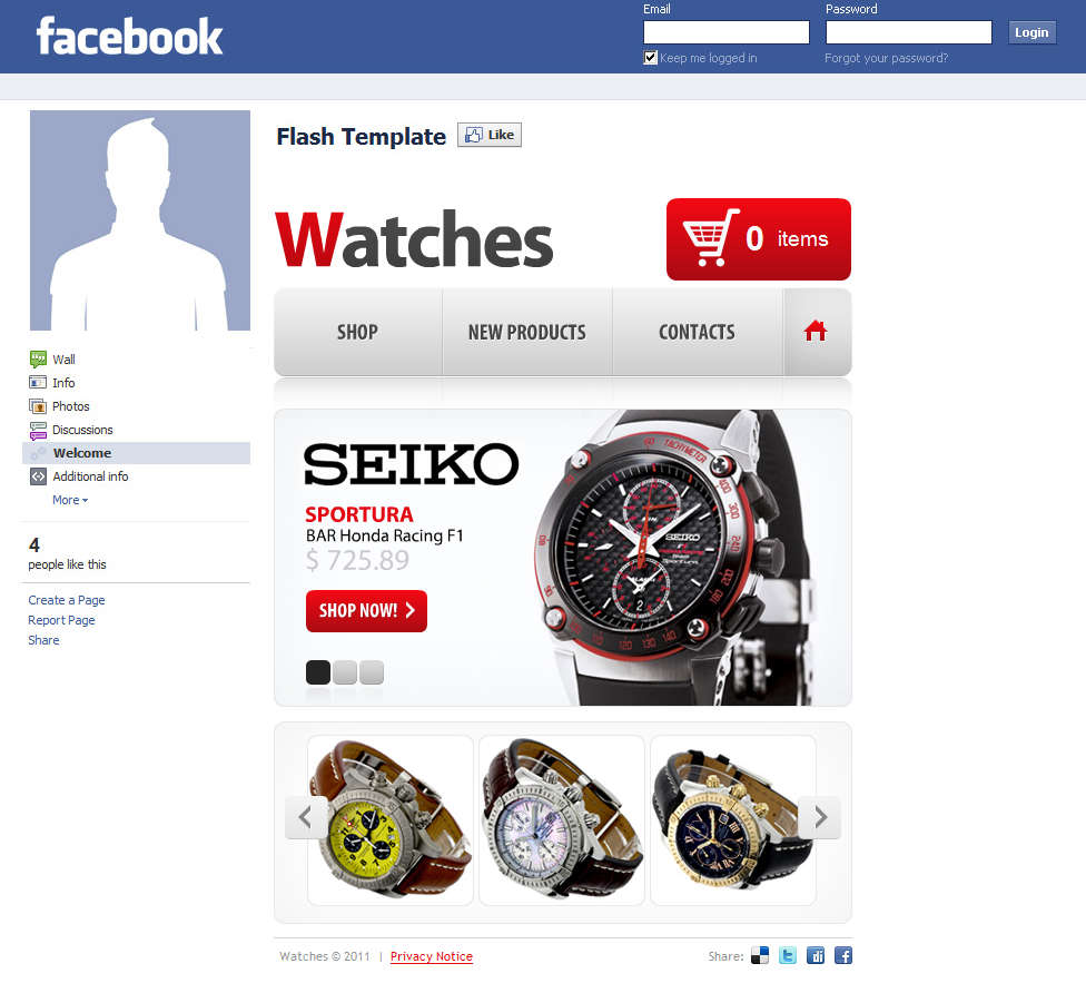 Facebook Stand Alone Retail S
