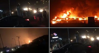2 Feared Dead, About 200 Houses Hazed In Abule Egba Pipeline Explosion