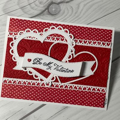Valentine card idea using Always in My Heart Stamp Set