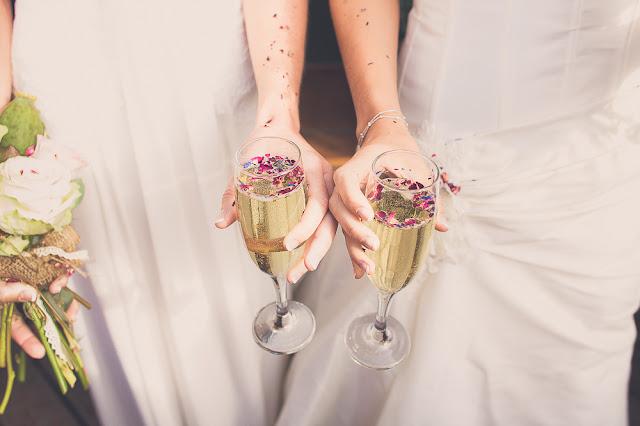 devon wedding, civil ceremony, champagne