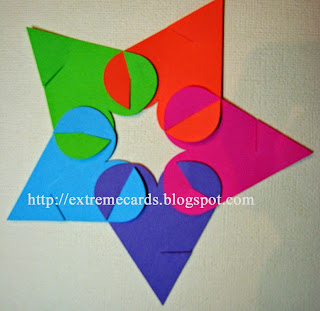 start assembling polyhedron star of hearts