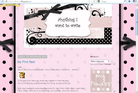 My Thoughts Free Cute Blogger Templates, Backgrounds, Blogwear and - free cute blogger templates