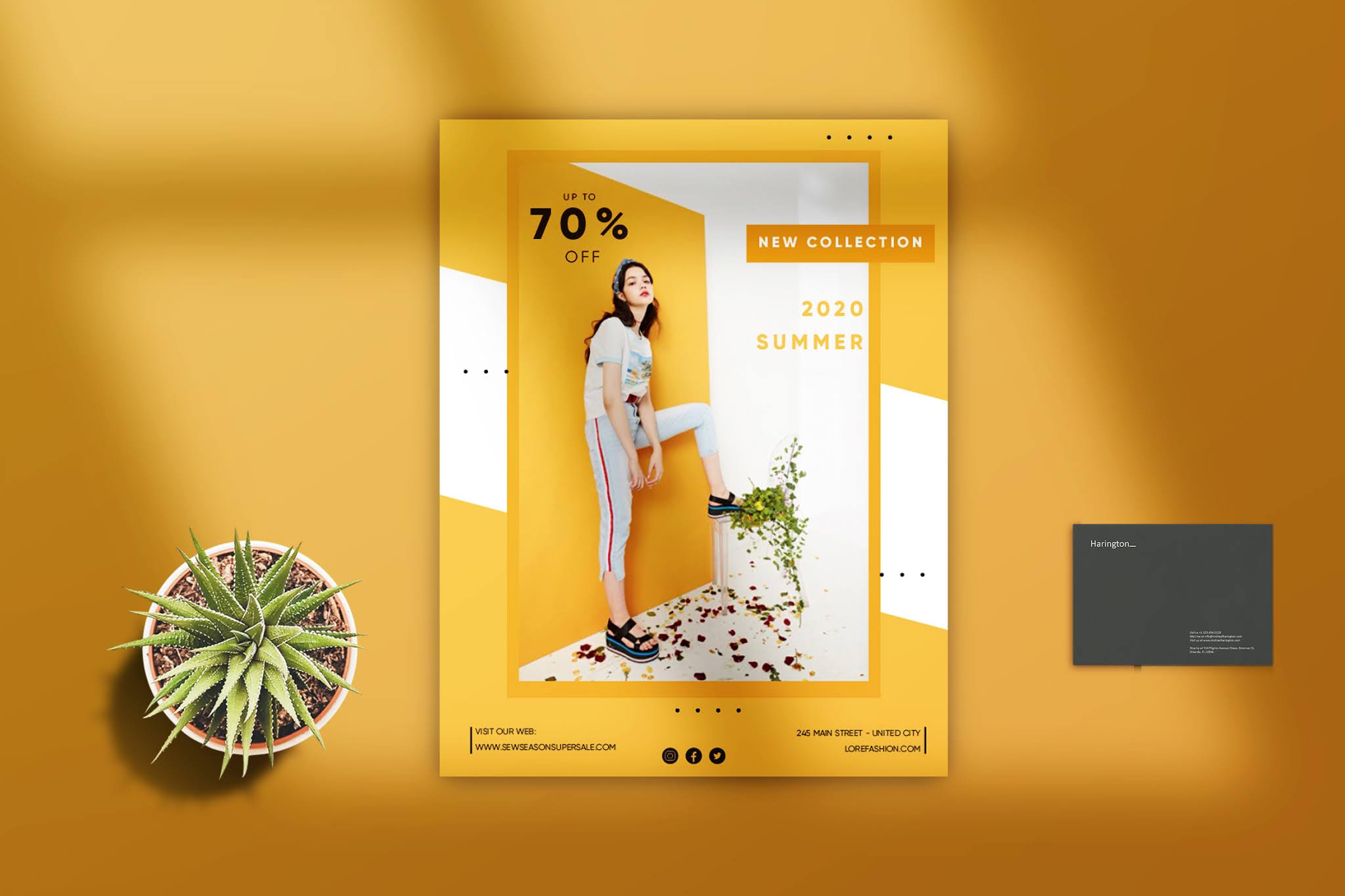 Open source professional fashion PSD flyer