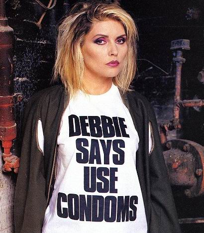 Blondie / Debbie Harry 'DEBBIES SAYS USE CONDOMS' shirt. PYGear.com