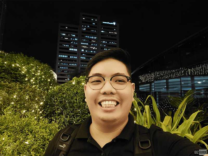 Low light selfie with Face Beauty level 5