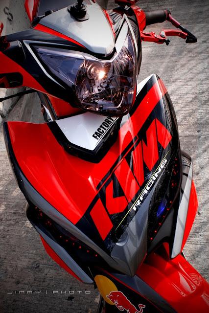 Exciter 135 sơn đỏ đen, tem KTM cực đẹp