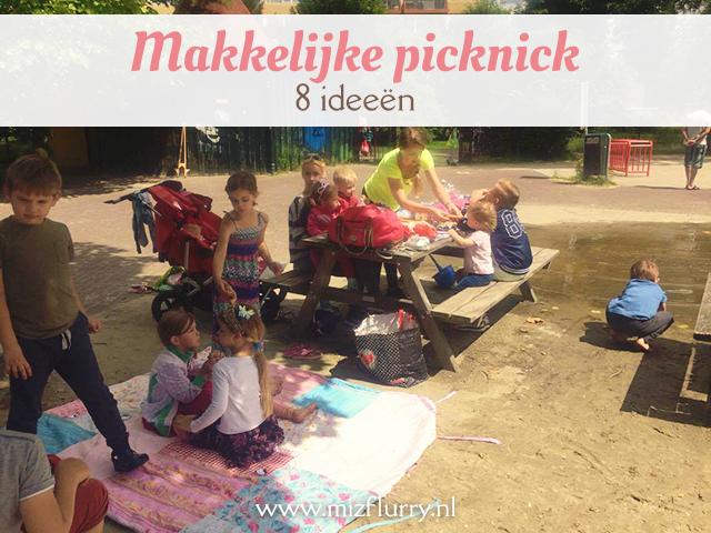 Acht suggesties om mee te nemen voor een makkelijke picknick met kinderen. Onderdeel van de Mamachallenge 2016.
