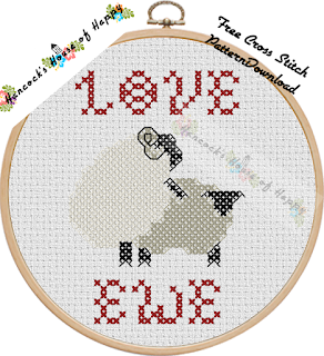 rude sheep free cross stitch design to download
