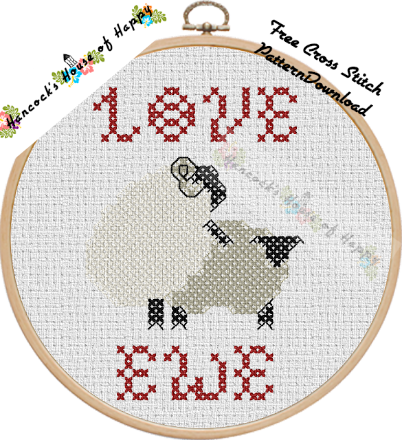Love Ewe! A Rather Rude and Sheepish Free Cross Stitch Chart